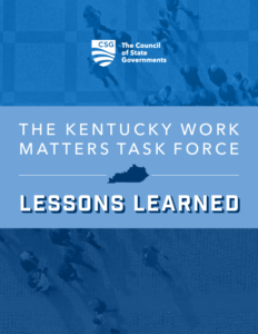 The Kentucky Workforce Matters Taskforce: Lessons Learned Cover