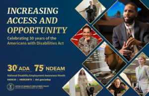 A poster for the National Disability Employment Awareness Month